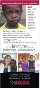 mission trip card back